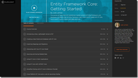 pluralsight course